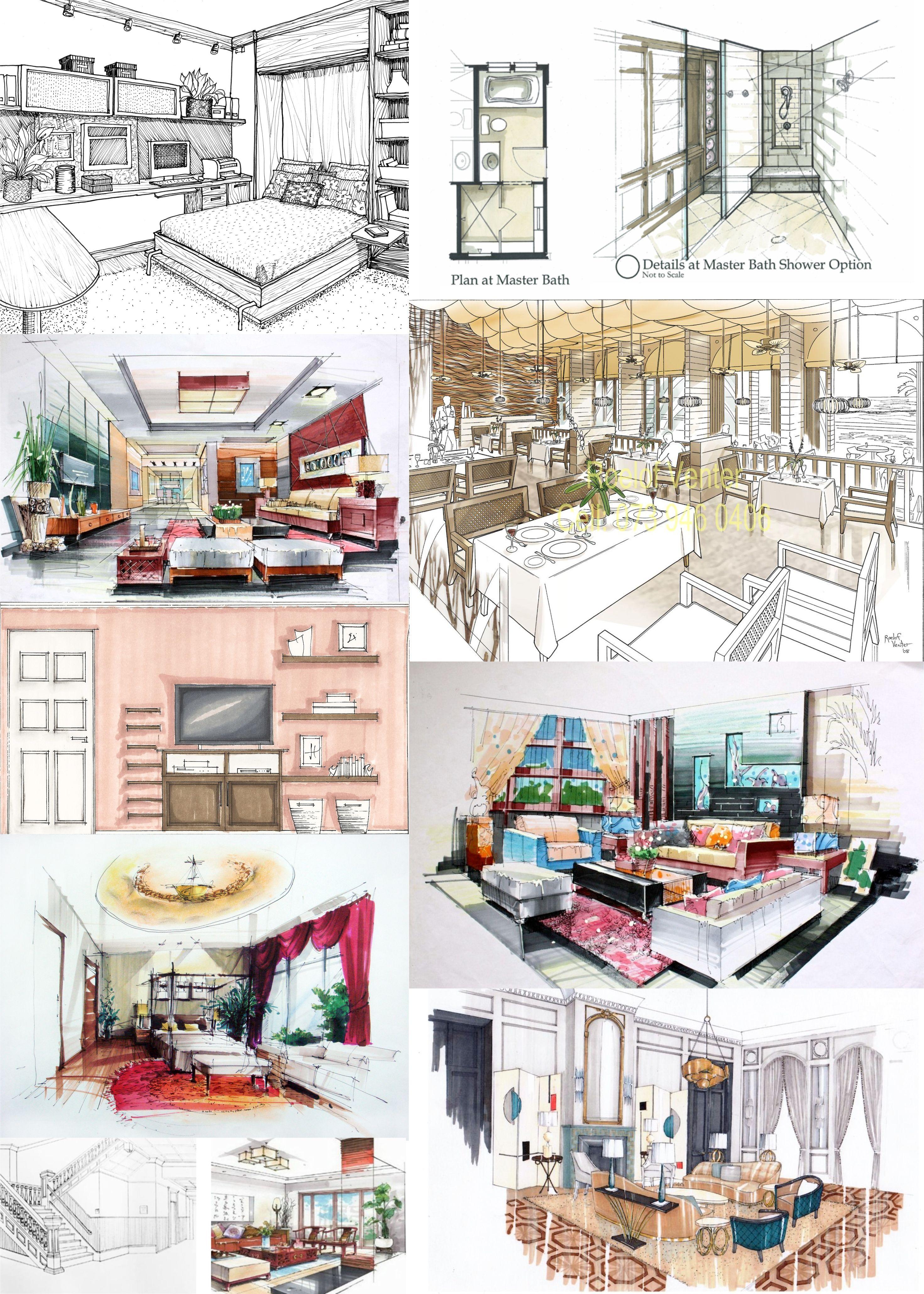 Pin de anthony patrick en dise o y arquitectura bocetos - Diseno y arquitectura de interiores ...