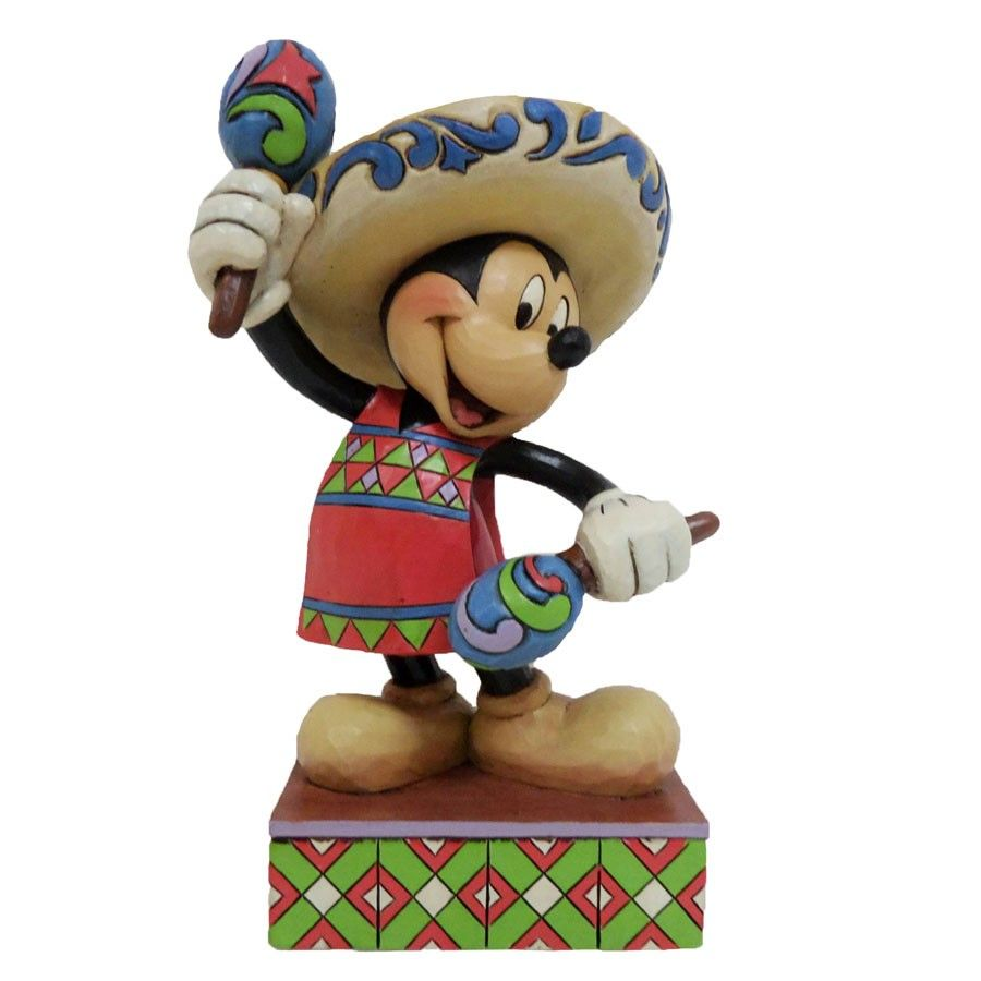 Greetings From Mexico Mickey Mouse In Mexico Figurine Jim Shore