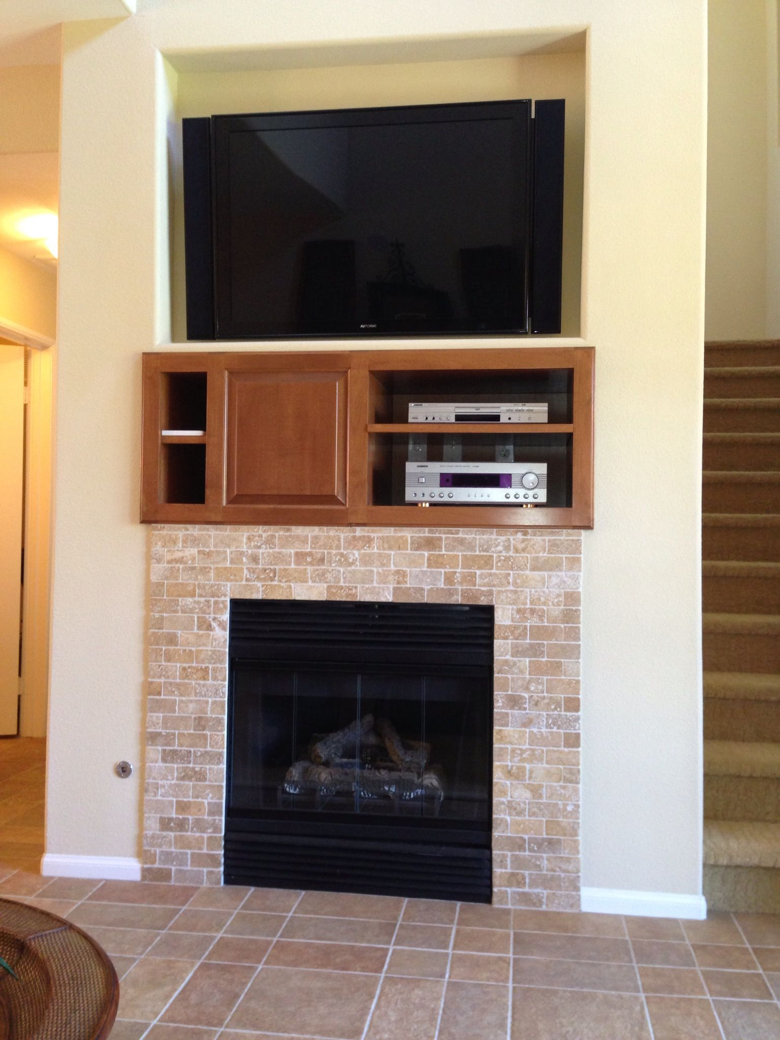Fireplace Tv Combo Fireplace Tv Combo Home Home Home Decor Organizing Your Home