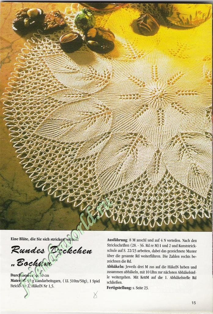 Doily knitting pattern. | Knit Lacy | Pinterest | Tejido