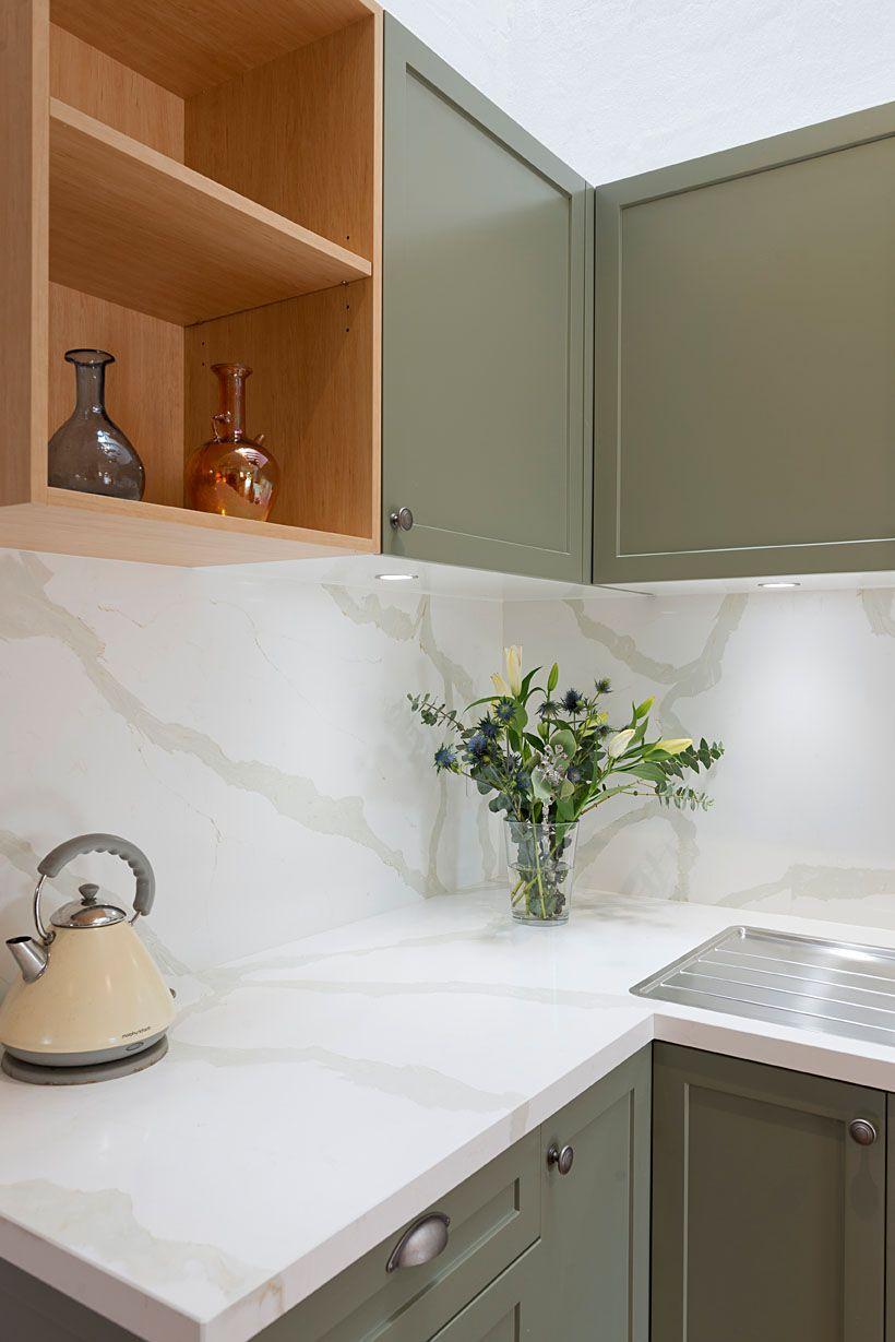 Modern Albert Park Kitchen With Marble Look Splahback Kitchen Renovation Design Kitchen Renovation Award Winning Kitchen