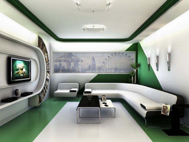 Futuristic home interior design room design ideas for Home room design photos