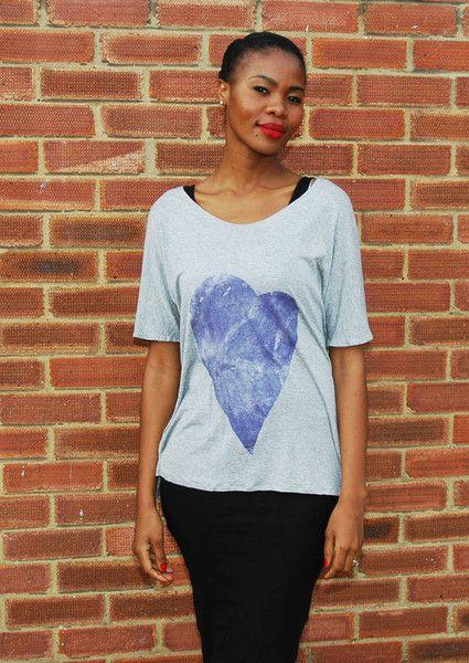 Purple Heart Sparkle Tee #purple #sparkle #heart #tee #fashion #suffolk #ipswich #grey