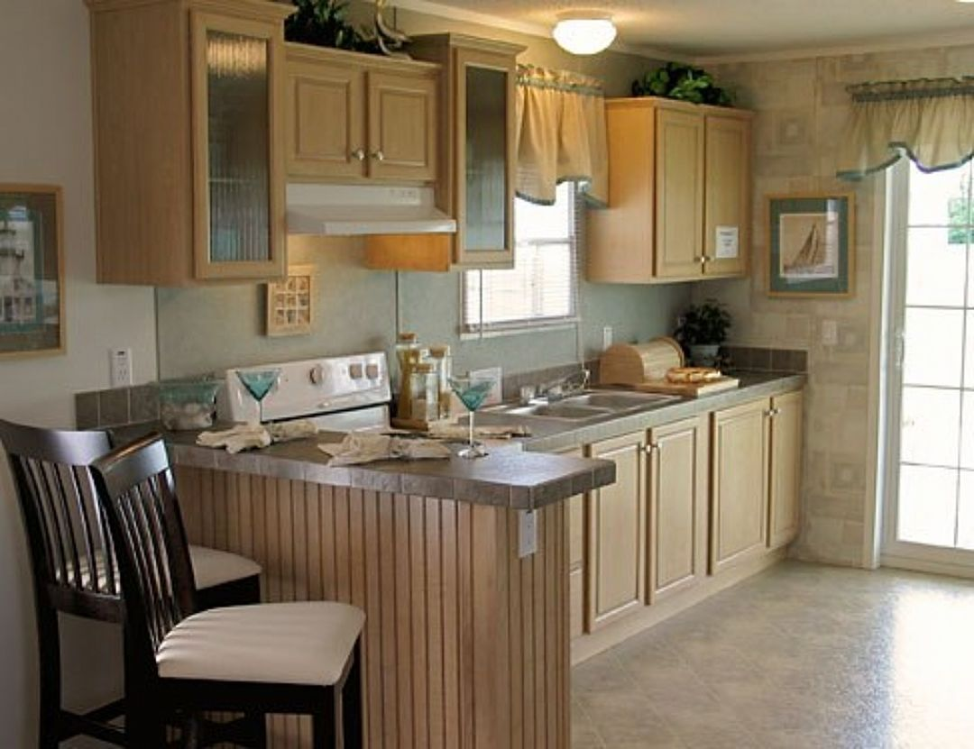 Before And After Of My Mobile Home Kitchen Make Over Painted Cabinets An Mobile Home Kitchen Cabinets Kitchen Cabinets And Countertops Prefab Kitchen Cabinets
