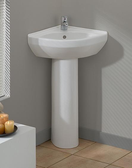 Simple For Tiny Bathroom Corner Sink Bathroom Corner Pedestal Sink Corner Sink