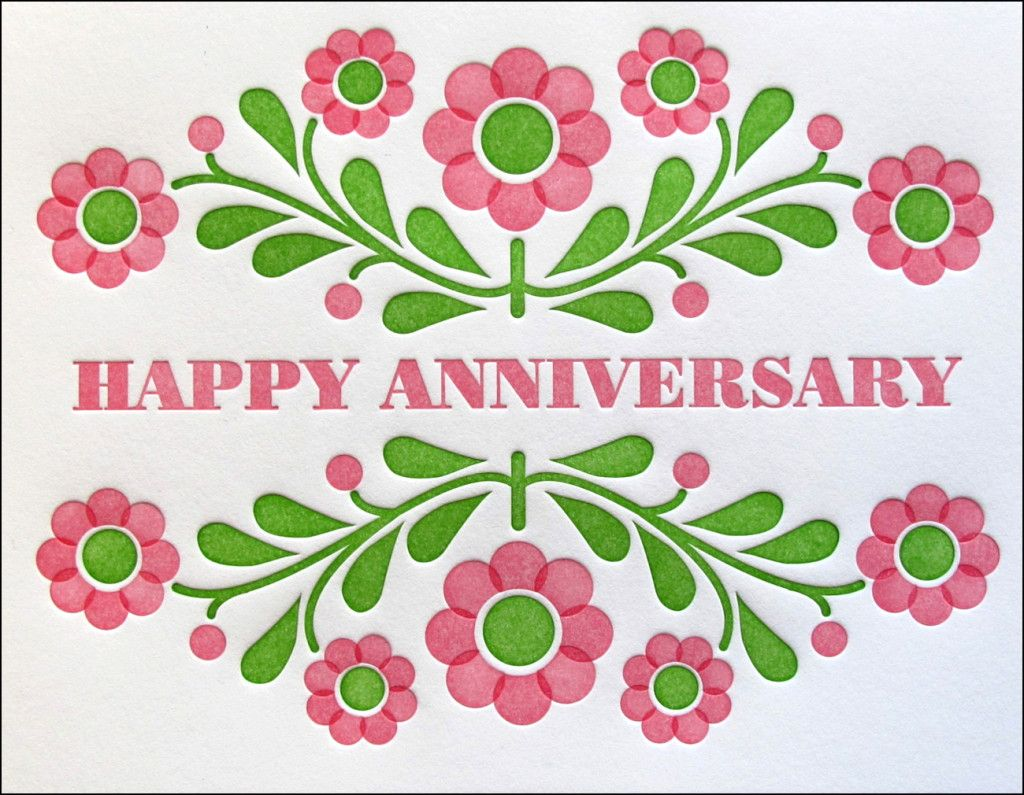Beautiful Greeting Anniversary Card Couple Happy