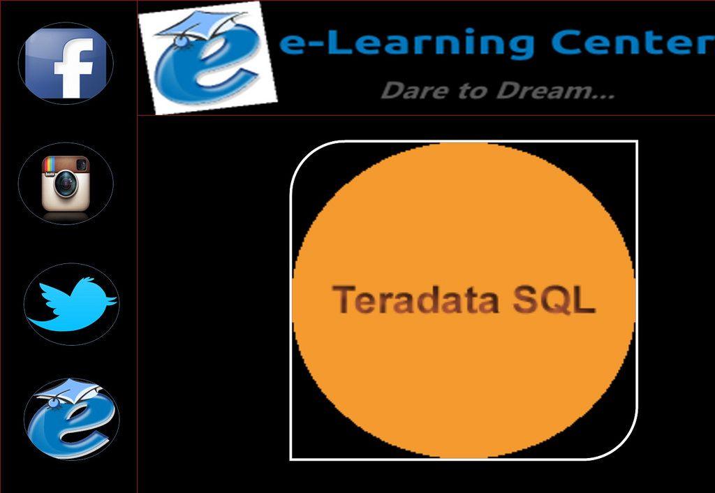 Teradata Sql Online Training Online Certification Courses E