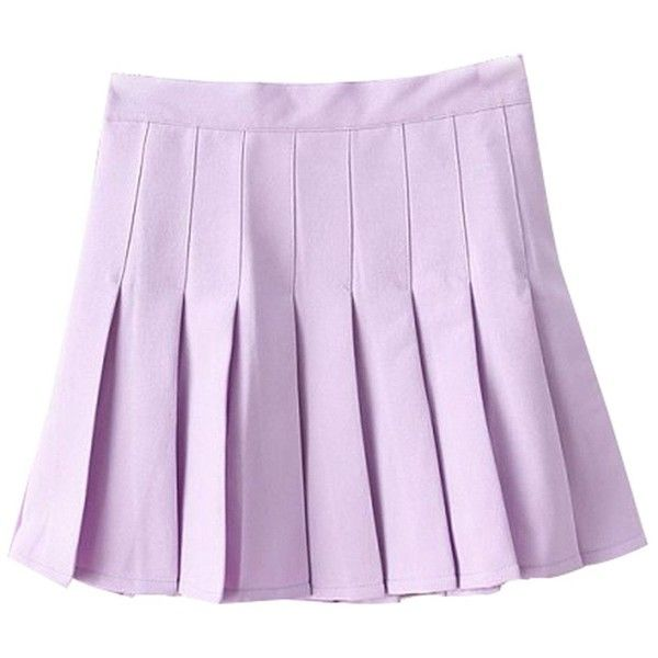 12b7185277ae Yasong Women Girls Short High Waist Pleated Skater Tennis Skirt School...  ($12) ❤ liked on Polyvore featuring skirts