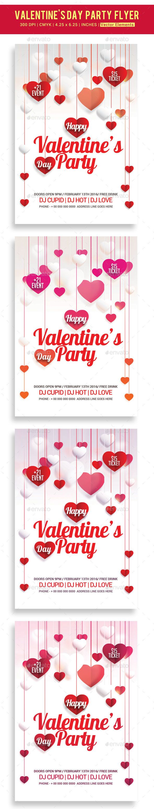 valentine s party dinner flyer valentines flyer template and design valentine s day party flyer template