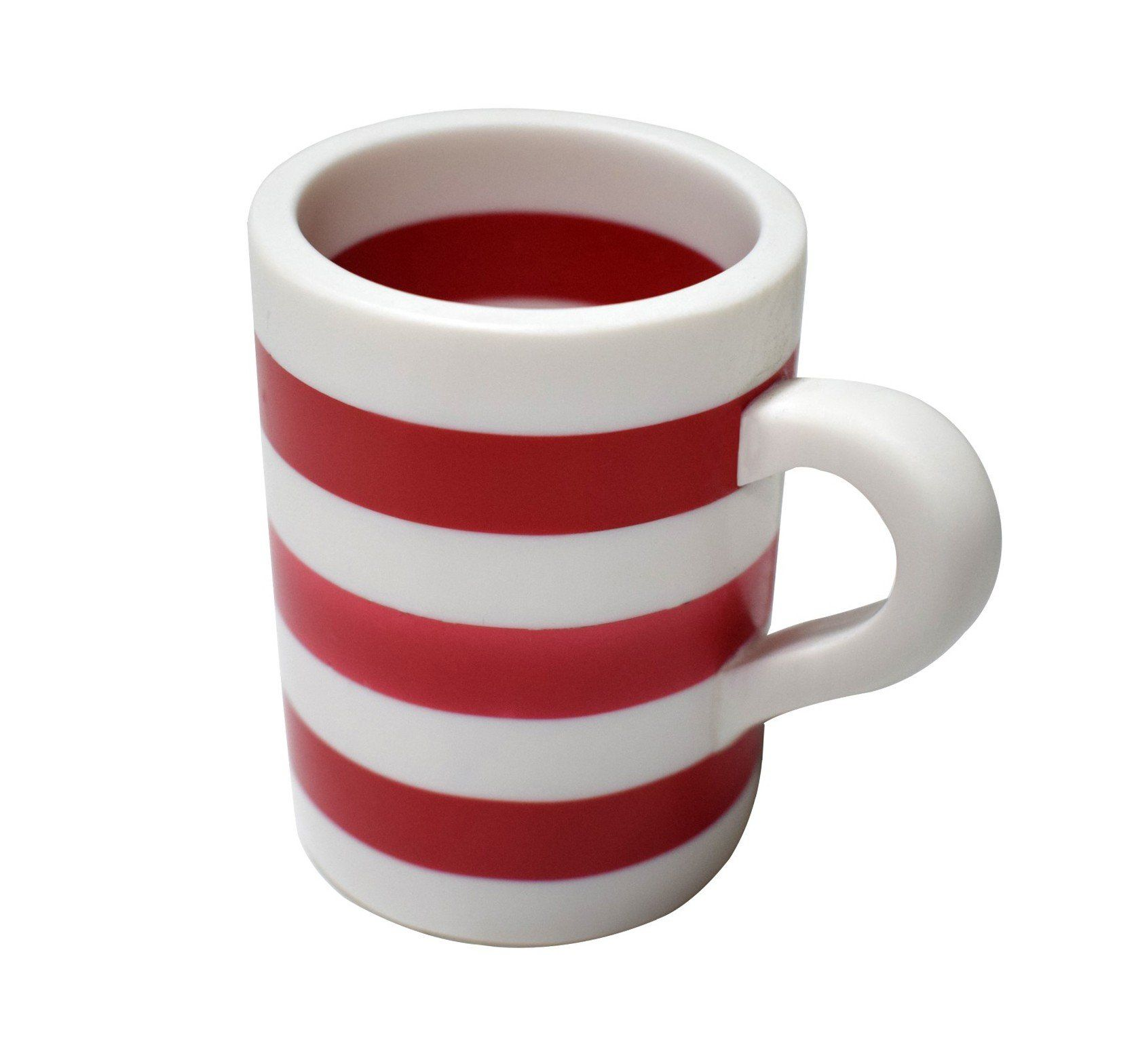 Red & White Line Pattern ready for your tea & coffee mug