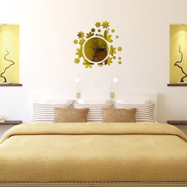 Flower Mirrored Wall Clock #wall #art #wallart #home #decor ...