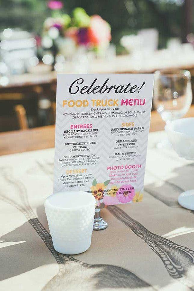 20 Modern Wedding Menu Ideas That Are Totally Unique #weddingmenuideas