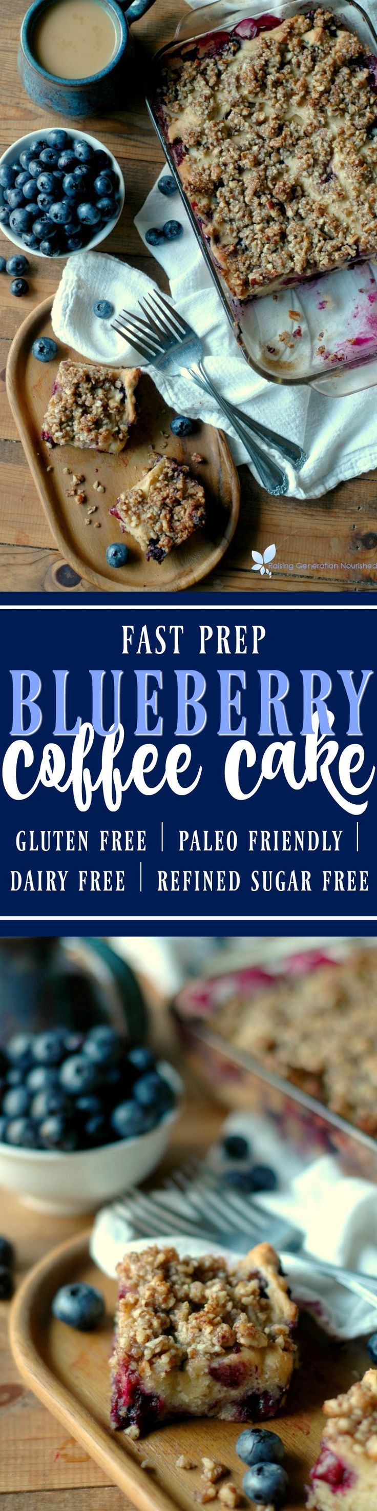 Fast prep blueberry coffee cake gluten free dairy free