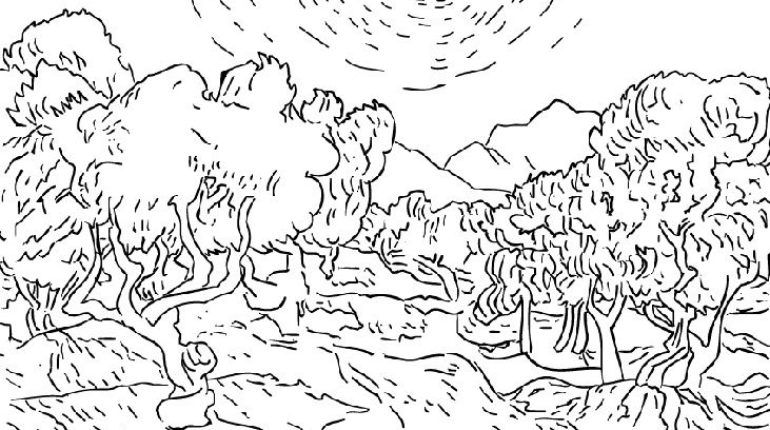 Sunflower Coloring Page Van Gogh | sunflower coloring page van gogh ...