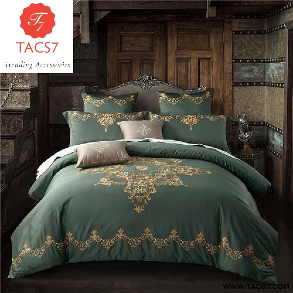 Luxury Bedding Sets Embroidery Long Stapled Cotton 4pcs Queen King Size Duvet Cover Set Bedclothes Bed Linen Be Luxury Bedding Sets Luxury Bedding Bedding Sets
