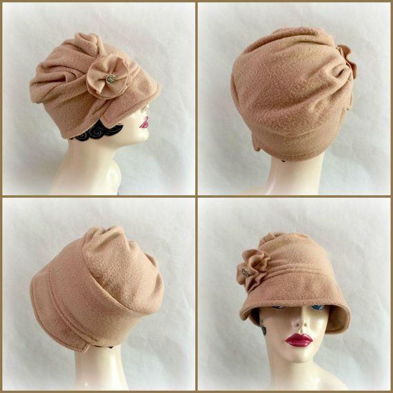 Cute Fleece Hat Flapper Style Cloche Cap Handmade от TheWaughdrobe ...