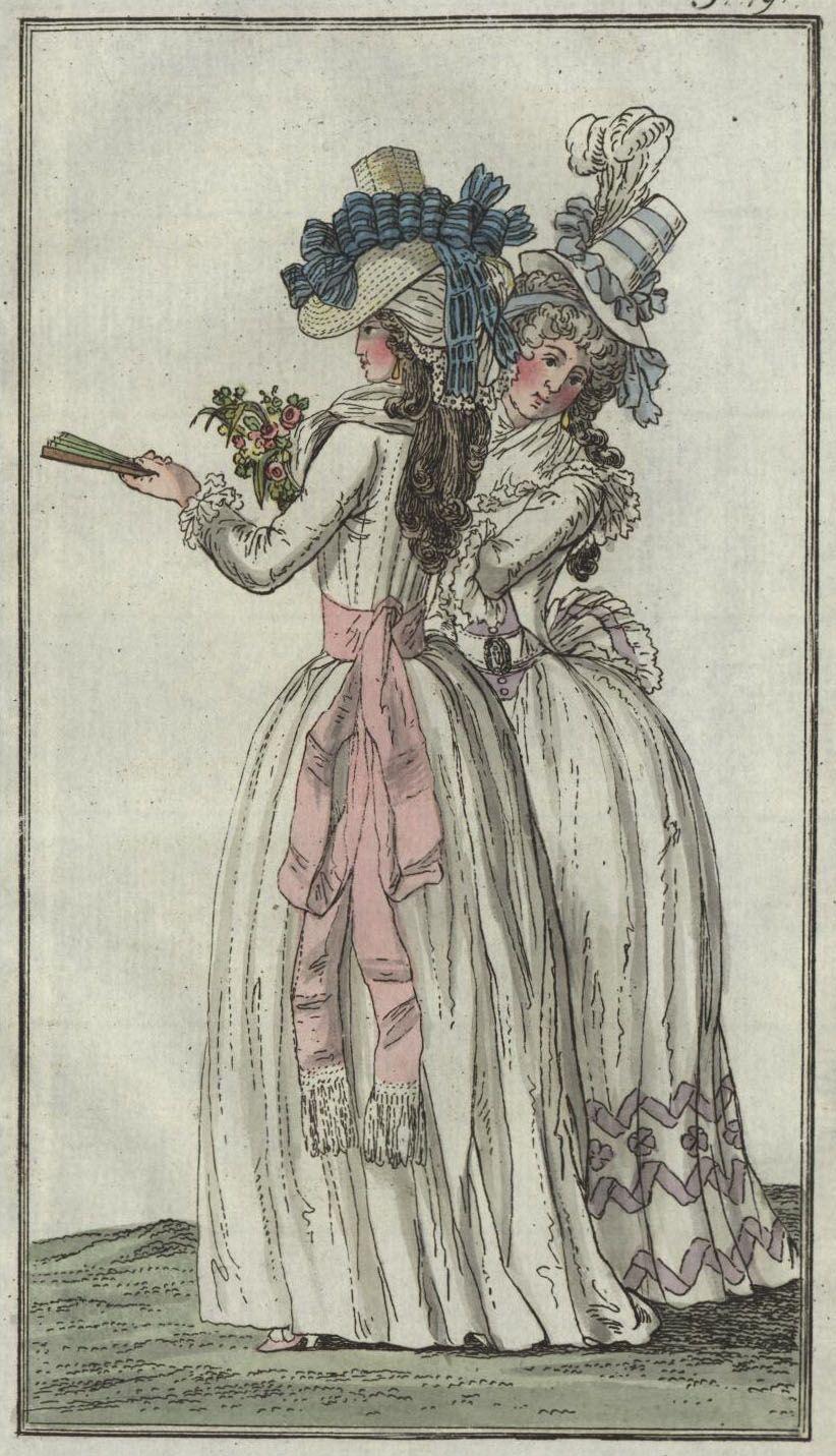 fourreau a la Creole (creole shift) - July 1790 Journal des Luxus und der Moden