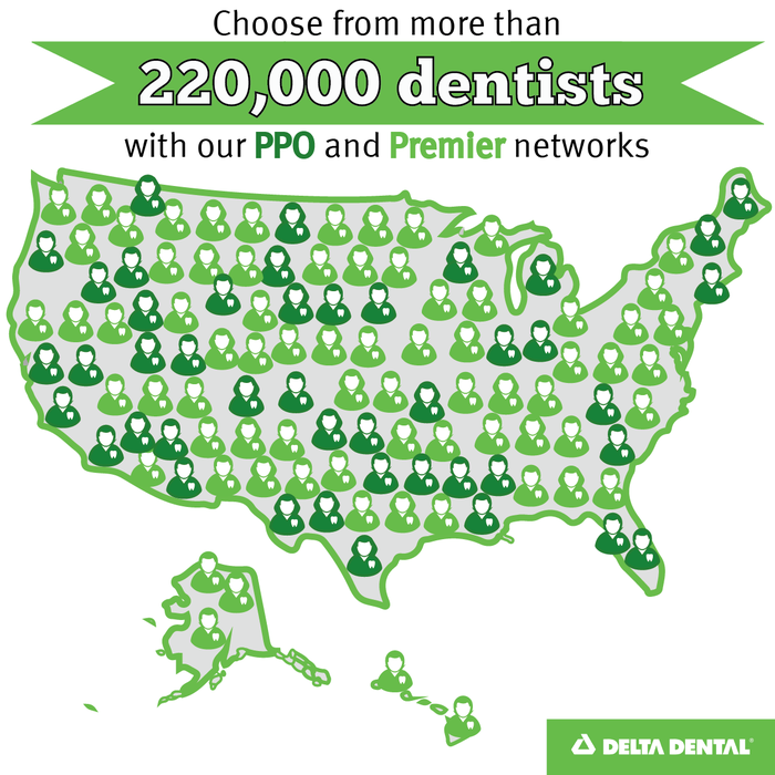 DeltaDental offers choice via the largest dentist network