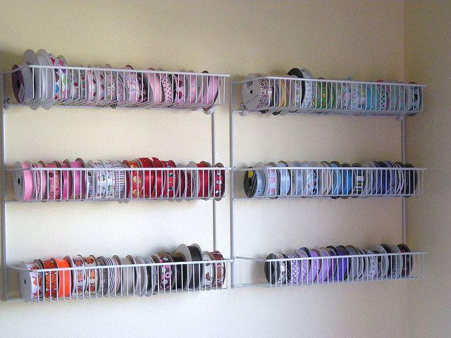 Ribbon storage using Closetmaid pantry organizers. & 003 | Pinterest | Ribbon storage Ribbon organization and Larder
