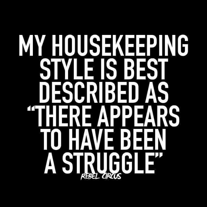 Housekeeping Quotes Custom My Housekeeping.the Best Medicine  Pinterest  Humor Stuffing . Inspiration Design