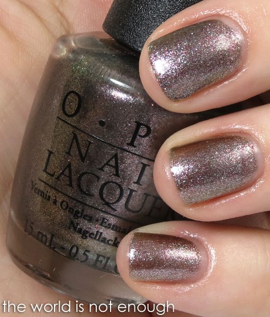 My new favorite color! The World Is Not Enough - James Bond OPI ...