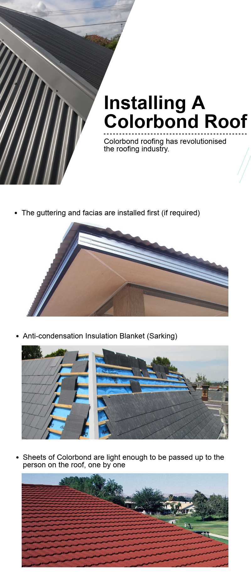 Installing a Colorbond Roof - All Roofing ServicesUrl ...