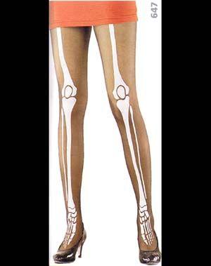 c74c172411ee5 Sheer Skeleton Printed Panty Hose (Solid Bones)