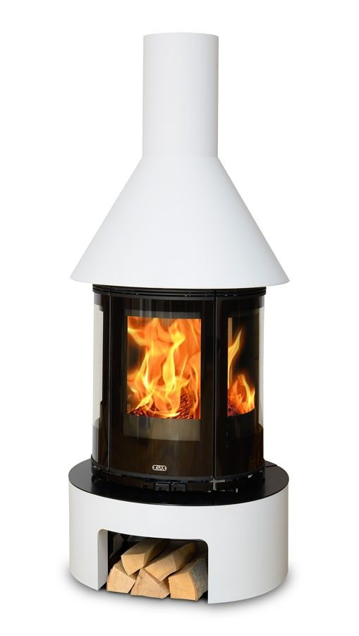 Vermont Curved Contemporary Modern Wood Burning Stove With