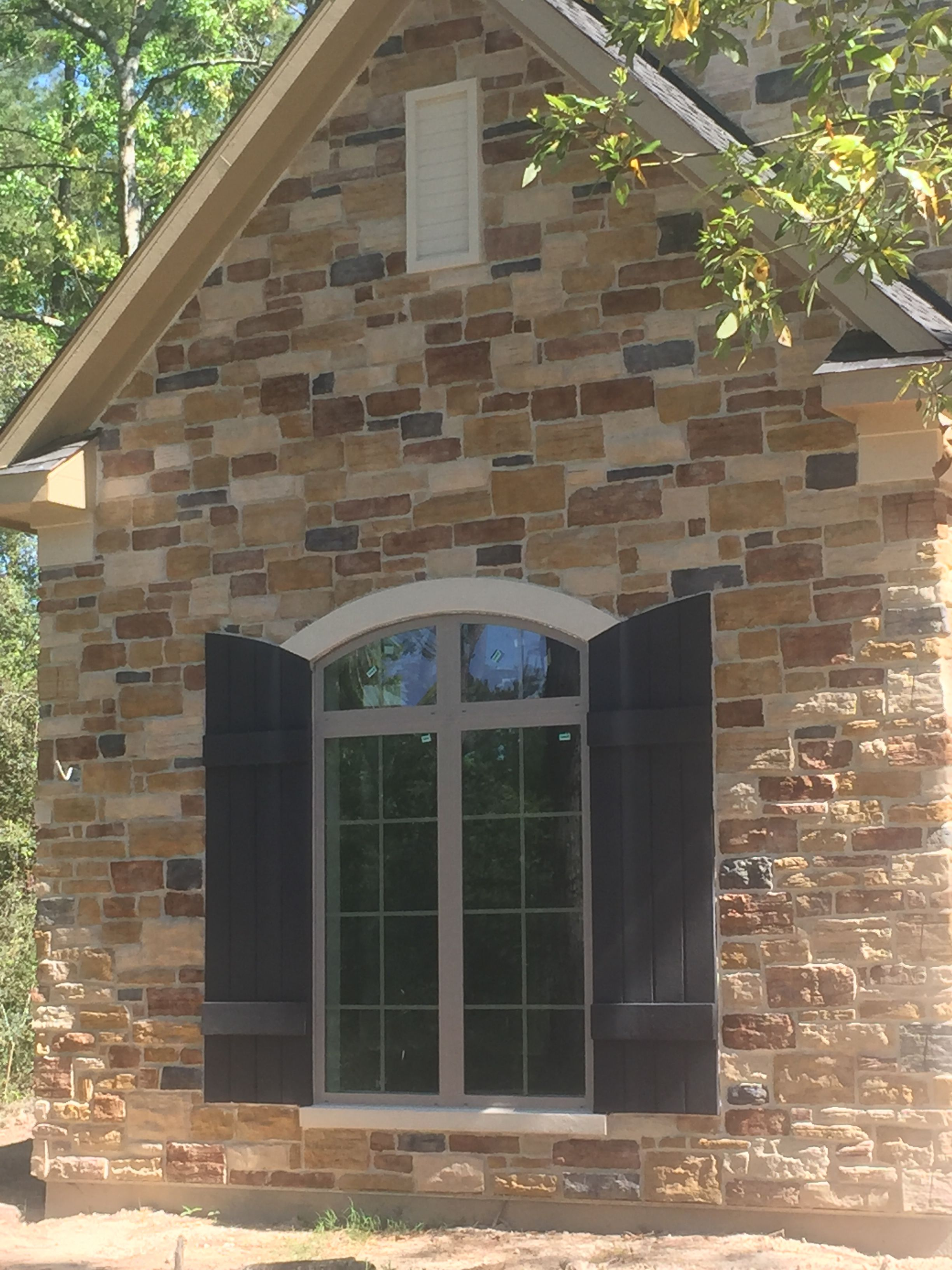 Stucco Shutters And Stucco Gable Vents Stucco Accent