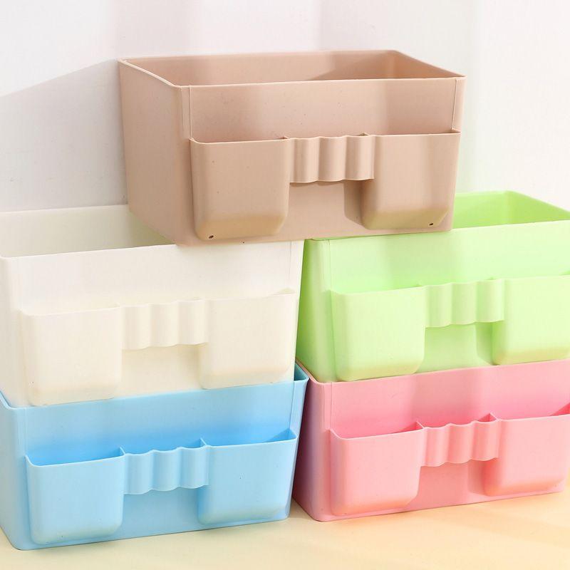 Hot Sale Cute Plastic Office Desktop Storage Boxes Makeup Organizer