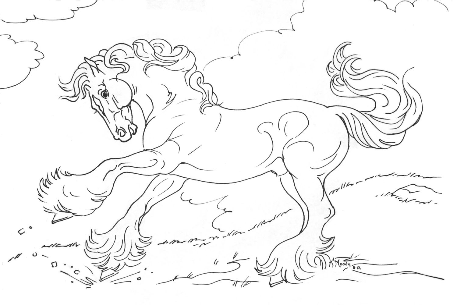 horse coloring pages to print out prize winner