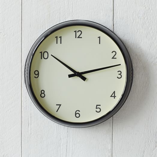 The Compact Size And Slender Hands Of The Basic Wall Clock Give It A  Minimalist Look, Great For Small Work Areas Or Kitchens.
