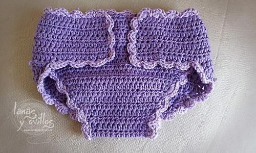 cobertor pañales diapers cover patron gratis crochet