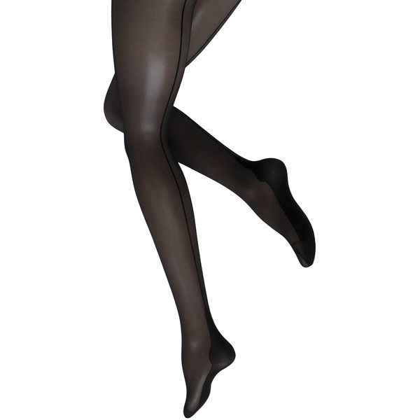 Cette Black Plus Size 16 Denier Back Seam Tights 3185 Rsd Liked On Polyvore Featuring Intimates Hosiery Tights Bla Plus Size Tights Clothes Design Women