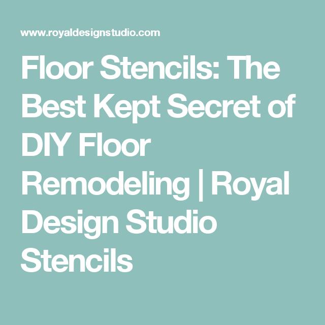 Floor Stencils: The Best Kept Secret of DIY Floor Remodeling                           | Royal Design Studio Stencils
