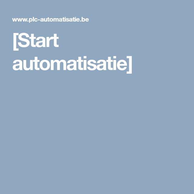 Start Automatisatie