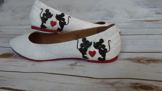 Mini and Mickey mouse fan art flats. Ballet by GlamAndGloryLab
