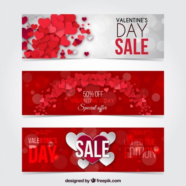 Free Valentines Day Web Banner Templates