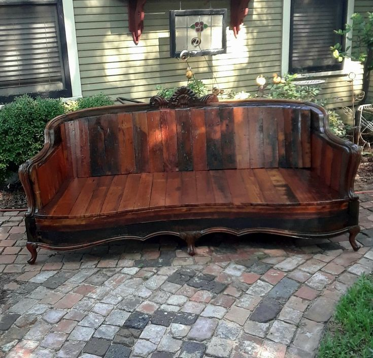 Photo of Wooden couch upcycled from beautiful reclaimed wood