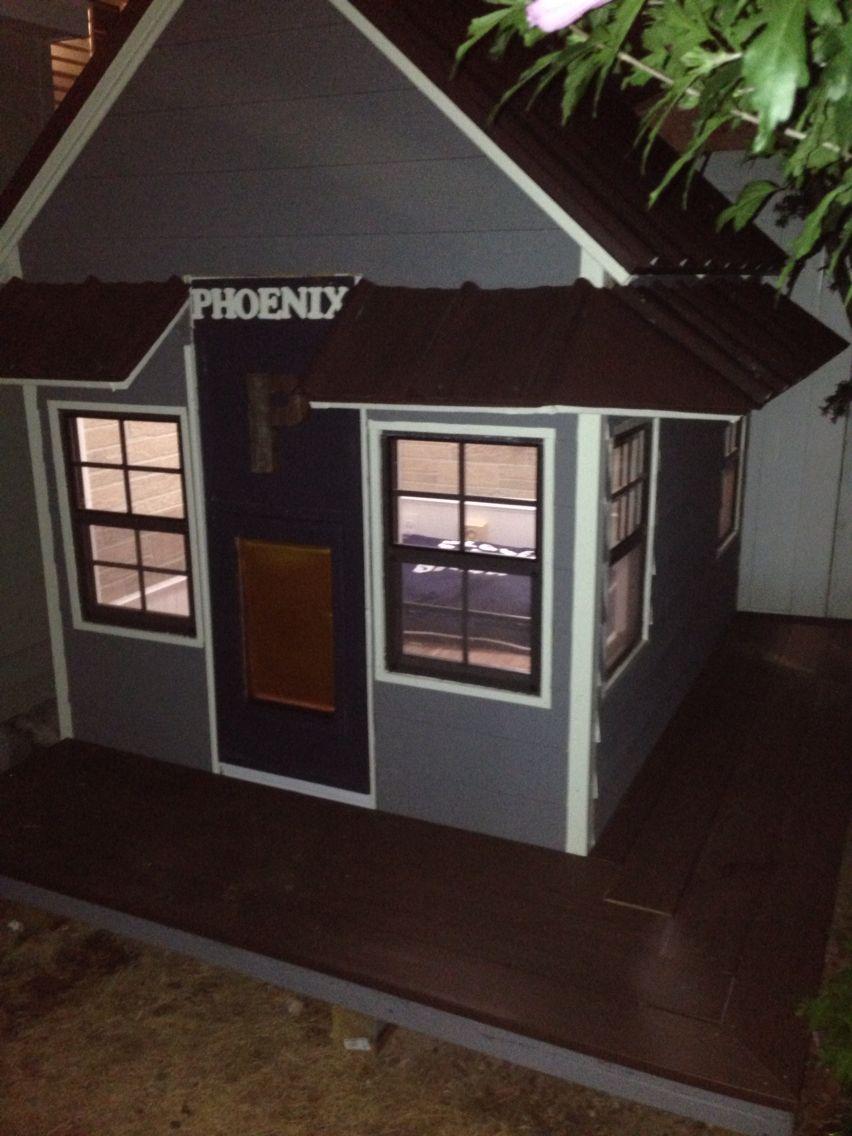 Custom Dog House W Full Electric Ac Heat Wood Flooring