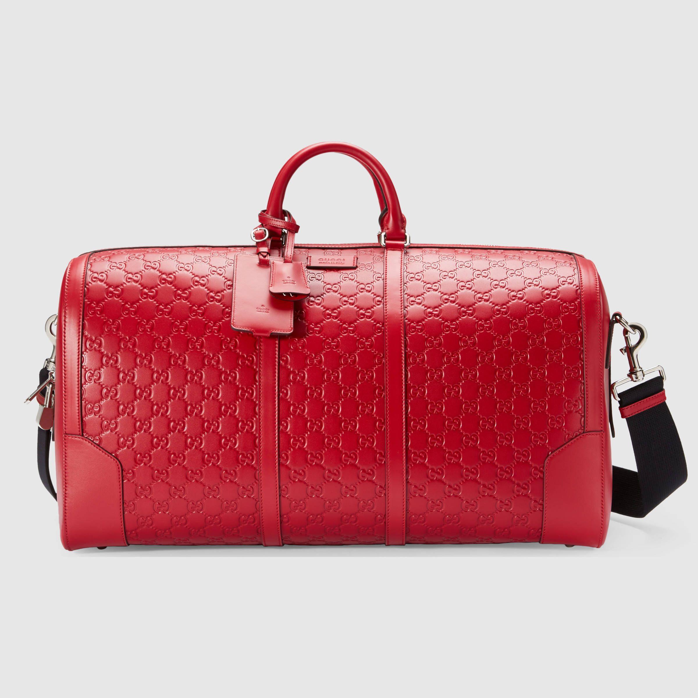 Gucci Signature Leather Duffle Leather Duffel Bag Leather Duffle Leather Duffle Bag