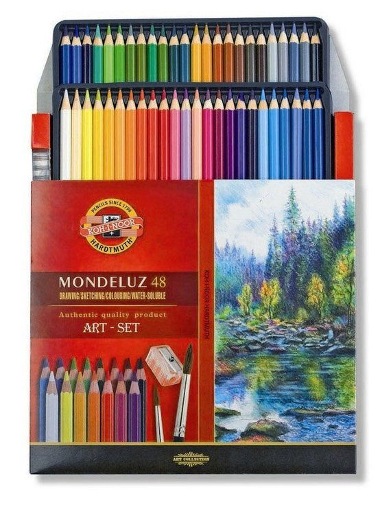 Aquarell Watercolor Colored Pencils Set Koh I Noor Mondeluz 3714