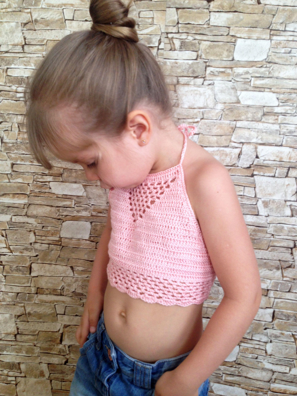 Powder crochet toddler top Baby toddler bra Hippie crochet top