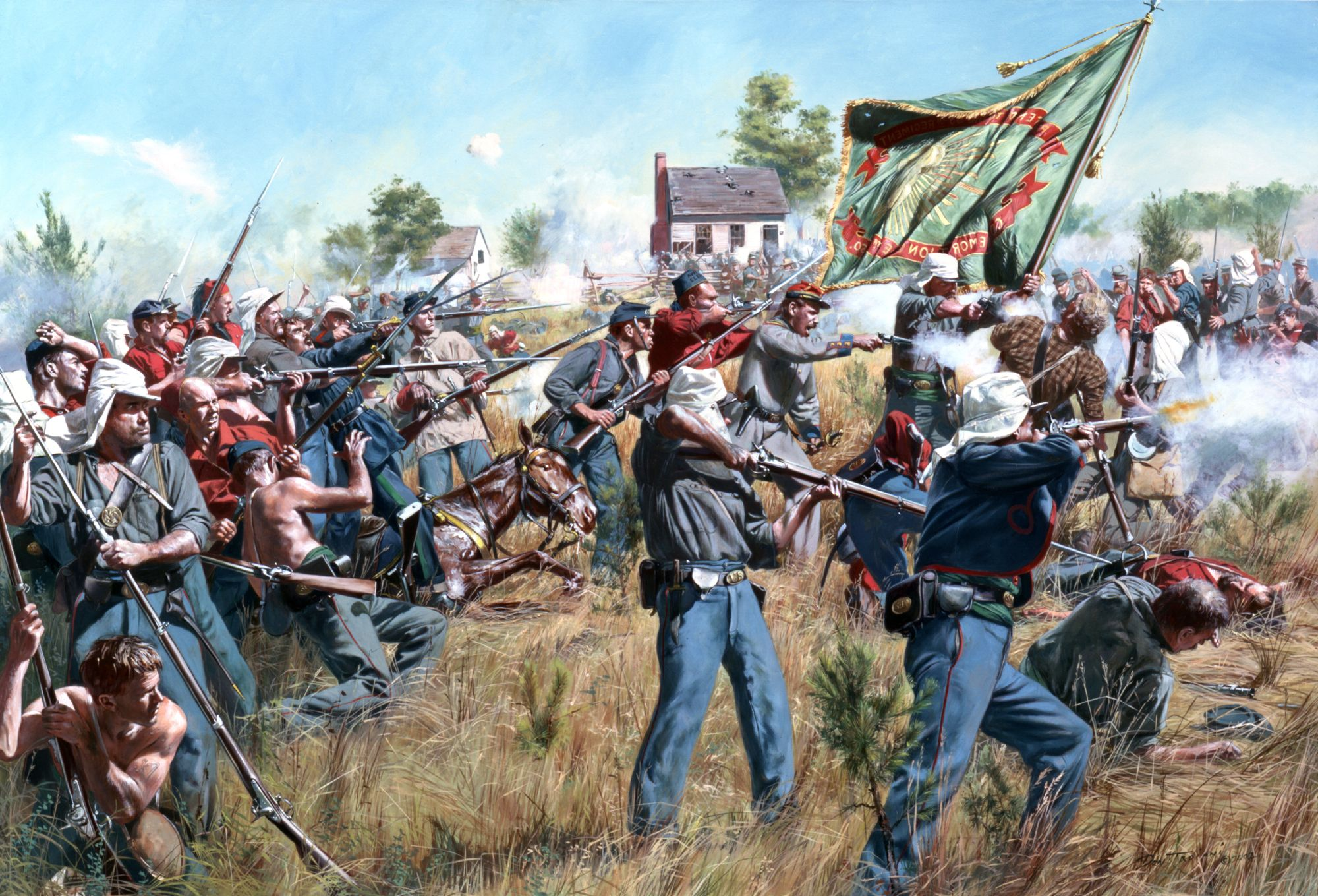 July 21 1861 the 69th new york state militia attack henry house july the new york state militia attack henry house hill during the first battle of bull run the militias emerald green flag would later become symbolic of biocorpaavc Choice Image