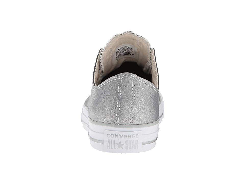 9967e68897c5 Converse Chuck Taylor All Star Big Eyelets - Heavy Metals Ox Women s Shoes  Metallic Silver