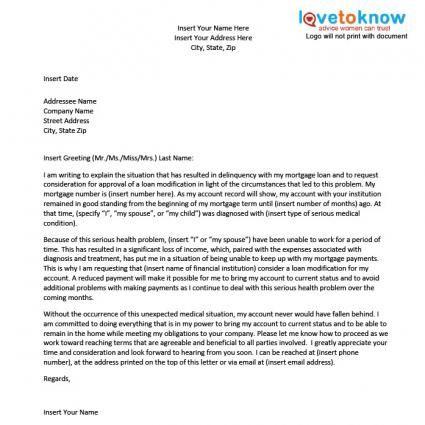Sample Hardship Letter For A Loan Modification Loan Modification