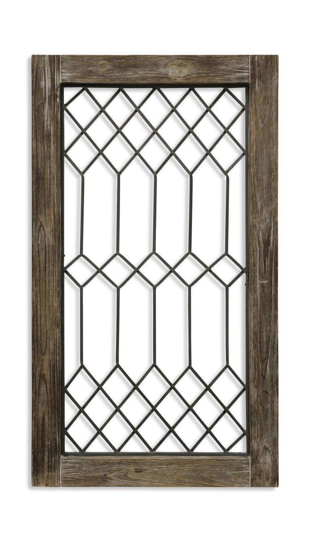 Vintage Window Wall Art Window Wall Decor Stained Glass Panels