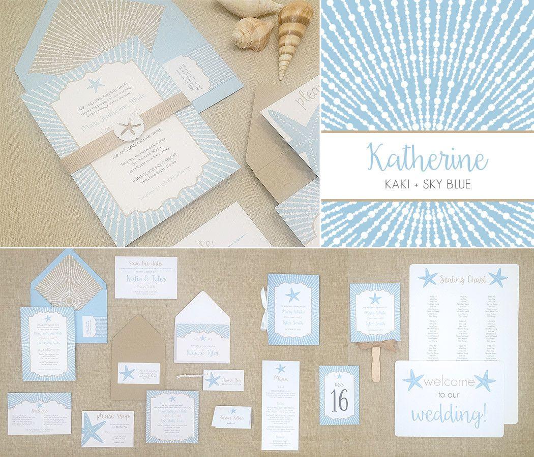 elegant beach wedding invitations