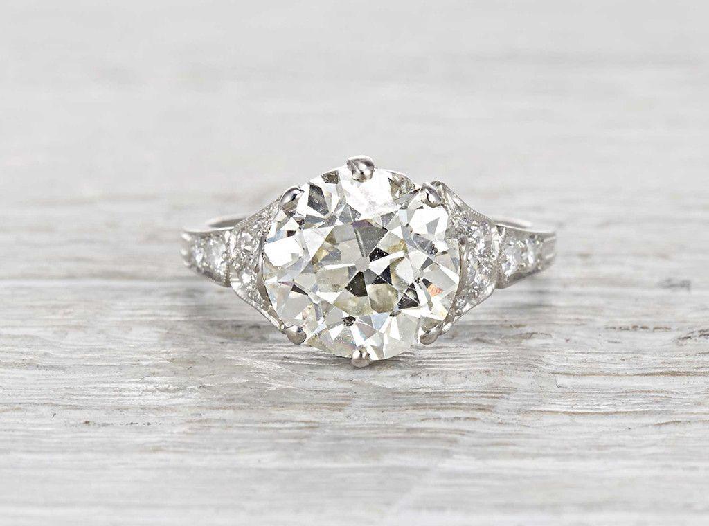 These vintage rings are amazing. 3.93 Carat Edwardian Engagement ...