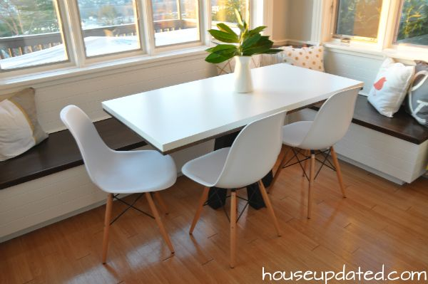 Breakfast Nook Light And Bright With Wood Banquette Builtin Enchanting Modern Kitchen Nook Decorating Design